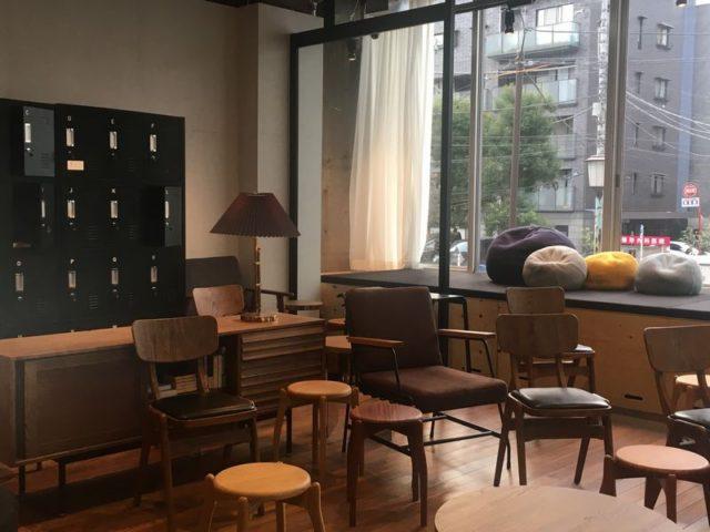外の見える喫茶室